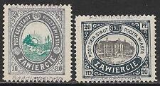 Zawierce stamps 1916 MI 1II-2II  MLH  VF