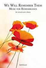 We Will Remember Them Music for Remembrance SATB Vocal Voice Choir Music Book