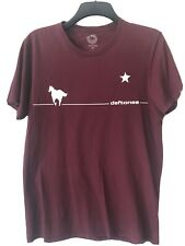 Men's Deftones Burgundy White Pony T-shirt Medium Used