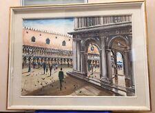 Quadro ad olio su tela Venezia - Palazzo Ducale(Piazza S. Marco) - Firmato a sx