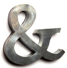 "Ampersand Sign Symbol 7.5"" Tin/Galvanized Metal Wall Art Farmhouse Industrial"
