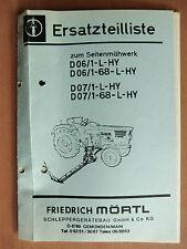 Ersatzteilliste MÖRTL Seitenmähwerk D 06/01 07/1 L HY 68 Deutz 6006 7207 7807