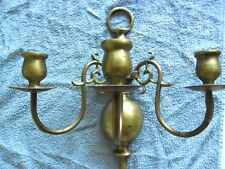 Vintage LAMPE murale APPLIQUE en laiton WALL lamp BRAS vintage BRONZE-Bougeoir-