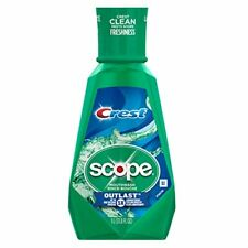 Crest Scope Mouthwash Outlast Long Lasting Mint, 1 Liter (33.8 Oz)