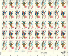 Scott # 1565/8...10 Cent ..Continental  Military...Sheet with 50 Stamps