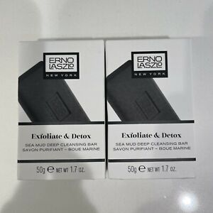 2x Bars Erno Laszlo Exfoliate & Detox Sea Mud Deep Cleansing bar (100g/3.4oz)