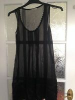 Ladies Black Chiffon  Top size Appox 10/12