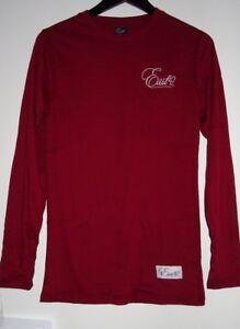 East42 Men's Long Sleeve Red Wine Sweatshirt Size Medium VR62 024