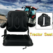 Lawn Garden Slidable Tractor Seat Riding Mower Seat Back Adjust Pvc With Armrest