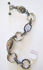 T5 Lia Sophia Epiphany Genuine Abalone and cut crystals Bracelet RV$98