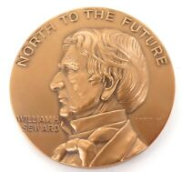 ".1967 WILLIAM H SEWARD ""NORTH TO THE FUTURE"" ALASKA PURCHASE CENTENARY MEDALLION"