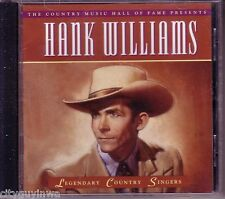 TIME LIFE Legendary Country Singers HANK WILLIAMS Oop 1994 CD 40s & 50s Hits