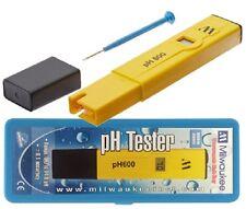 Milwaukee Instruments pH600 pH Pocket Tester ph 600 with Box & buffer solution