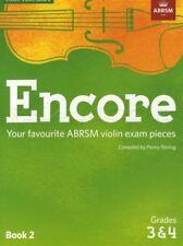Encore Violin Book 2 Grades 3 & 4 Classical Sheet Music ABRSM Exam Pieces