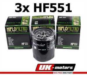 3x Hiflo Filtre A Huile HF551 Moto Guzzi Breva 1200