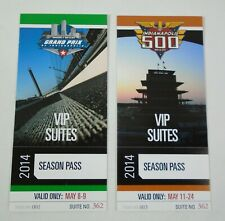 2014 IndyCar Grand Prix & Indianapolis 500 VIP Suite Season Pass Turn 2 Tickets