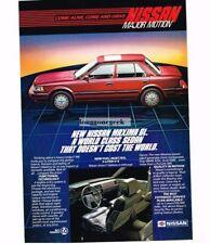 1984 Nissan Maxima GL Red 4-door Sedan Vtg Print Ad