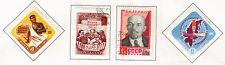 Russia Soviet Cold War Propoganda Lenin stamps 1961