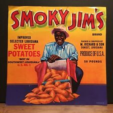 NOS Vintage Smoky Jim's Sweet Louisiana Potatoes Label