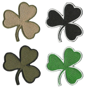 """BuckUp Tactical Patch Hook Die Cut Clover Patches 2"""""""