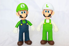 "Super Mario Brothers Bros 5"" Action Figure Fiery Fire Luigi Birthday Cake Topper"