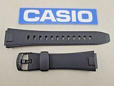 Genuine Casio AQ-164W black resin rubber watch band strap