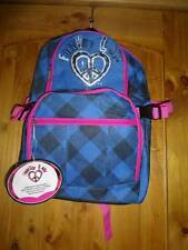 Pro Sports Forever Love Back Pack Blue Black Pink Heart Peace Sign Sport