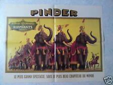Affiche collection cirque Pinder Les éléphants