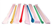 Snow Cone Spoon Straws - 200 count - Wrapped - colors