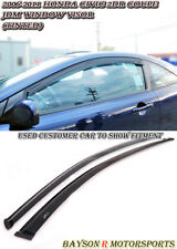 JDM Window Rain Guard Visors (Tinted) Fits 06-11 Civic 2dr