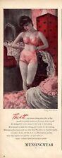 1944 Munsingwear PRINT AD Women's Underwear Panties Bra ART Cute Frameable ad