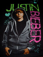 Justin Bieber-Concert-Band-Black Shirt-M