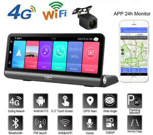 GPS 4G Dash Camera 8 Inch Car DVR Android Navigator Vehicle Recorder Dashbord