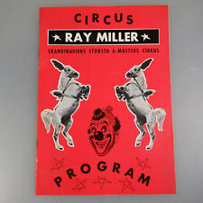Programm Skandinaviens Circus Ray Miller 1971 (53830)