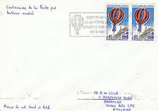 FRANCE 1979 CENTENARY OF MAIL BY BALLOON COVER MACHINE CANCEL