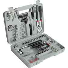 Toolbox with 141 Parts Repair DIY Set Houshold Tools Pliers Hammer Case Storage