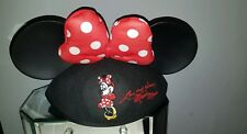 Disneyland Minnie Mouse Ears Hat Red Polka Dot Bow