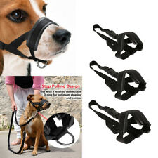 Nylon Dog Muzzle for Large Dogs Prevent Biting Barking Chewing Adjustable