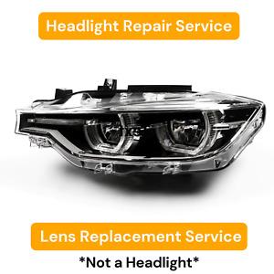 Left Headlight Lens Replacement Repair Service 2016-2018 BMW F30 3-Series 17 18
