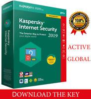 Kaspersky INTERNET Security 2020  3PC/ 3 DEVICE/1 Year / Global-Key 14.15$