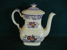"""Copeland Spode Mayflower Tall 8 1/2"""" Coffee Pot with Lid"""