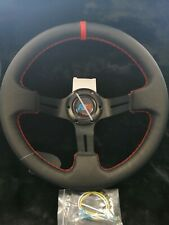 Universal AK Steering Wheel 330mm LEATHER DEEP DISH  For OMP MOMO ND SPARCO