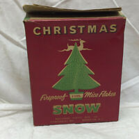 Vintage Christmas Snow by National Tinsel Mfg. Co. Manitowoc Wisconsin Mica