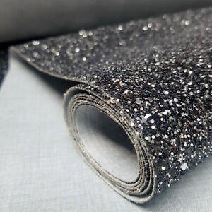 Gun Metal Chunky 3D Glitter 15cm Stairs Wallpaper Border Grade 3 [SELF ADHESIVE]