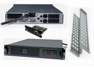 APC SUA2200R2X180 (SUA2200RM2U) Smart-UPS 2200VA 1980W 120V AP9617 Power Backup