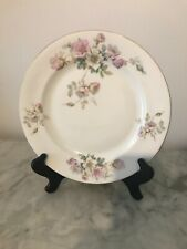 Antique Pink and White Flowered Czechoslovakian Plate