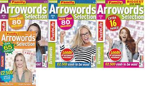 4 ARROW WORDS (ARROWORD) Puzzle Books 300+ Puzzles  FAMILY ARROW MAG 23 25 26 37