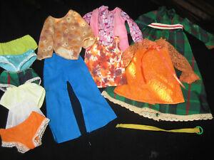 VINTAGE IDEAL CRISSY KERRY TRESSY DOLL LOT ORIGINAL CLOTHES