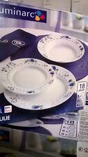 serv.piatti luminarc 36 pezzi con decoro blu,grigio