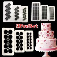 3 Stücke 3D Quadratmeter Diamant Kuchen Dekor Fondantform Kekse Plätzchenform